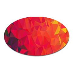 Triangle Geometric Mosaic Pattern Oval Magnet