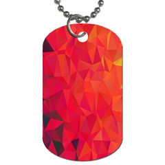Triangle Geometric Mosaic Pattern Dog Tag (two Sides)