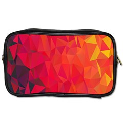 Triangle Geometric Mosaic Pattern Toiletries Bags 2 Side