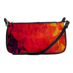 Triangle Geometric Mosaic Pattern Shoulder Clutch Bags