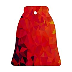 Triangle Geometric Mosaic Pattern Bell Ornament (two Sides)
