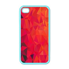 Triangle Geometric Mosaic Pattern Apple Iphone 4 Case (color)