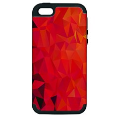 Triangle Geometric Mosaic Pattern Apple Iphone 5 Hardshell Case (pc+silicone)