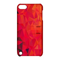 Triangle Geometric Mosaic Pattern Apple Ipod Touch 5 Hardshell Case With Stand