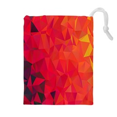 Triangle Geometric Mosaic Pattern Drawstring Pouches (extra Large)