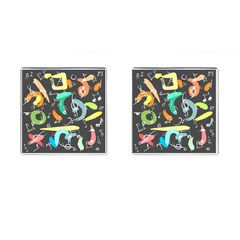 Repetition Seamless Child Sketch Cufflinks (square)