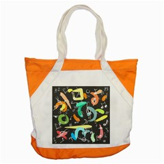 Repetition Seamless Child Sketch Accent Tote Bag