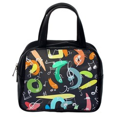 Repetition Seamless Child Sketch Classic Handbags (one Side)