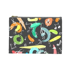Repetition Seamless Child Sketch Cosmetic Bag (large)