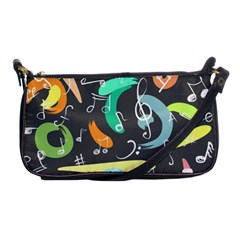 Repetition Seamless Child Sketch Shoulder Clutch Bags