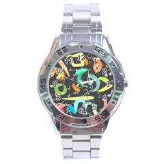 Repetition Seamless Child Sketch Stainless Steel Analogue Watch