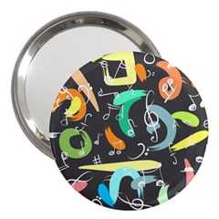 Repetition Seamless Child Sketch 3  Handbag Mirrors