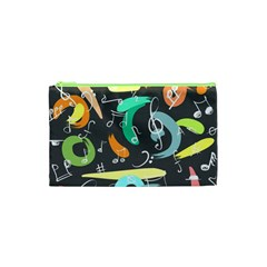 Repetition Seamless Child Sketch Cosmetic Bag (xs)
