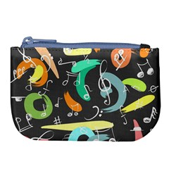Repetition Seamless Child Sketch Large Coin Purse