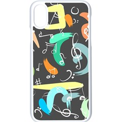 Repetition Seamless Child Sketch Apple Iphone X Seamless Case (white)