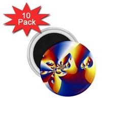 Mandelbrot Math Fractal Pattern 1 75  Magnets (10 Pack)