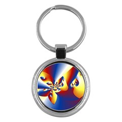 Mandelbrot Math Fractal Pattern Key Chains (round)
