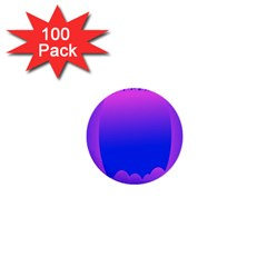 Abstract Bright Color 1  Mini Buttons (100 Pack)
