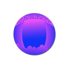 Abstract Bright Color Magnet 3  (round)