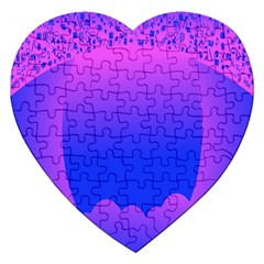 Abstract Bright Color Jigsaw Puzzle (heart)