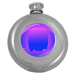 Abstract Bright Color Round Hip Flask (5 Oz)