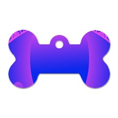 Abstract Bright Color Dog Tag Bone (two Sides)
