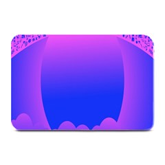 Abstract Bright Color Plate Mats