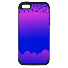 Abstract Bright Color Apple Iphone 5 Hardshell Case (pc+silicone)