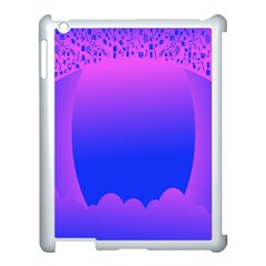 Abstract Bright Color Apple Ipad 3/4 Case (white)