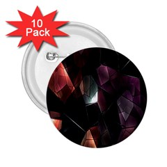 Crystals Background Design Luxury 2 25  Buttons (10 Pack)