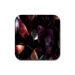 Crystals Background Design Luxury Rubber Coaster (square)