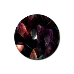 Crystals Background Design Luxury Rubber Coaster (round)