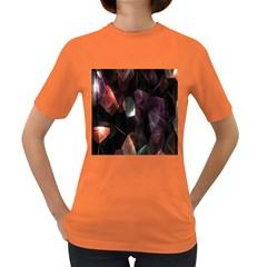 Crystals Background Design Luxury Women s Dark T Shirt