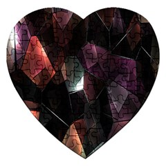 Crystals Background Design Luxury Jigsaw Puzzle (heart)