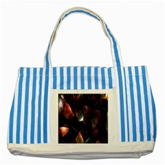 Crystals Background Design Luxury Striped Blue Tote Bag