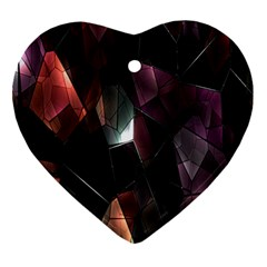 Crystals Background Design Luxury Heart Ornament (two Sides)