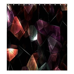Crystals Background Design Luxury Shower Curtain 66  X 72  (large)