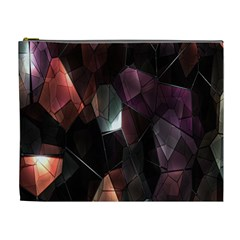 Crystals Background Design Luxury Cosmetic Bag (xl)