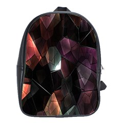 Crystals Background Design Luxury School Bag (large)