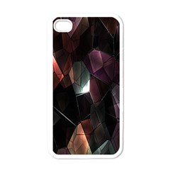 Crystals Background Design Luxury Apple Iphone 4 Case (white)