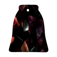 Crystals Background Design Luxury Ornament (bell)