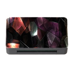 Crystals Background Design Luxury Memory Card Reader With Cf