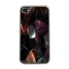 Crystals Background Design Luxury Apple Iphone 4 Case (clear)