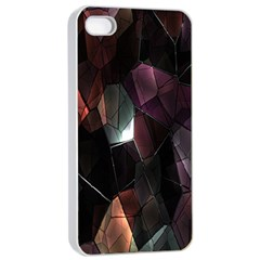 Crystals Background Design Luxury Apple Iphone 4/4s Seamless Case (white)