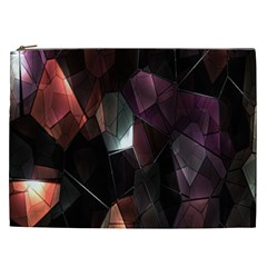 Crystals Background Design Luxury Cosmetic Bag (xxl)