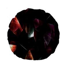 Crystals Background Design Luxury Standard 15  Premium Round Cushions