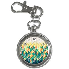 Background Geometric Triangle Key Chain Watches