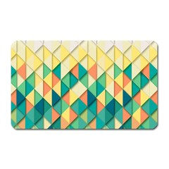 Background Geometric Triangle Magnet (rectangular)