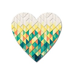 Background Geometric Triangle Heart Magnet