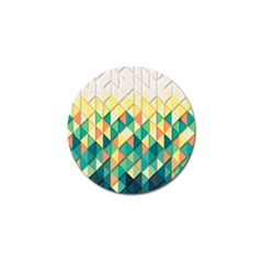 Background Geometric Triangle Golf Ball Marker